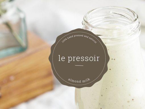 Le Pressoir Almond Milk Packaging Design