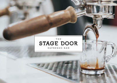 Stage Door Coffee Shop Branding, Menu and Logo Design