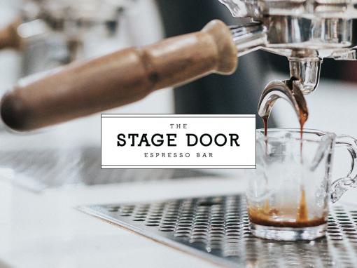 Stage Door Coffee Shop Branding, Menu and Logo Design